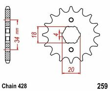 KR Ritzel 14Z Teilung 428 DAELIM VC 125 Advance 96-99 New... front sprocket