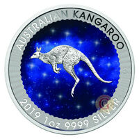 Australia 2019 1 OZ Kangaroo Glowing Galaxy