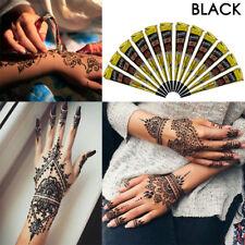 Pure Black Indian Imported Golecha Black Henna Paste Cones MEHANDI Tattoo Cones