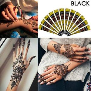 Pure Black Temporary Tattoo Paste Mehndi Black Henna Paste Cones Tattoo Cones