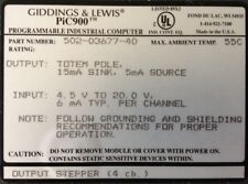 GIDDINGS & LEWIS : PLCs : Pic900 : Output Stepper : 4 Channels # 502-03677-40