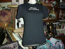 EMILY THE STRANGE Cool Jet Black Top Shoes Tee Shirt Size M