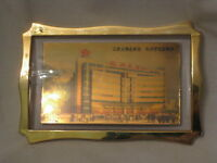framed Asian Oriental building picture & Buddha ? Chinese Japanese ? frame
