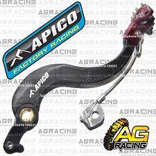 Apico Black Red Rear Brake Pedal Lever For Honda CRF 250X 2005 Motocross Enduro
