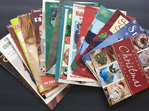 Vintage Craft Books & Leaflets Lot of 19 Cross Stitch Crochet Christmas