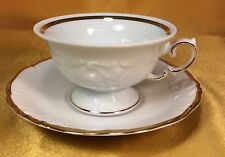 Wawel Poland Fine China W/Gold Trim Casa Oro Pattern Cup And Saucer Set