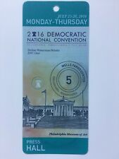 2016 Democratic National Convention Press Hall Pass Credential Hillary Clinton