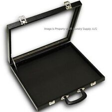 1 Glass Top Grey 40 Space Display Box Organizer Case Lighters Pins Medals