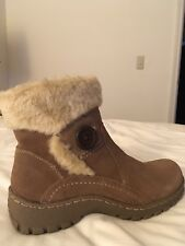 43ea9840874b8 Women s All Weather Suede Leather Winter Boot w Faux Fur Lining SZ8