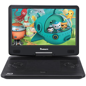 """14 """" Portable Blu-ray DVD Player Full HD1080P HDMI AV IN/OUT Dolby Audio Battery"""
