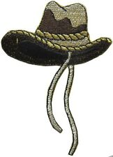 """#2304 3 1/2"""" Embroidery Iron On Cowboy Hat Applique Patch"""