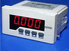 NEW Digital LED speed tachometer meter m/min Intelligent