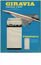PUBLICITE  1969   GIRAVIA  lave linge machine  à laver