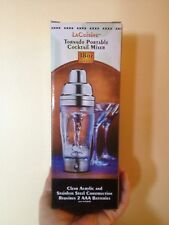 NEW LaCuisine TORNADO PORTABLE COCKTAIL DRINK MIXER 18oz ACRYLIC/STAINLESS STEEL