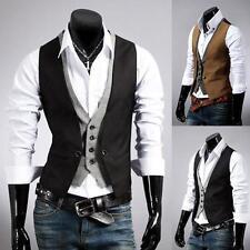 Moderne Männer nehmen passende formale beiläufige Kleid-Weste-Klage-Weste-Jacke