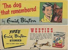 WEETIES AUSTRALIA CEREAL GIVEAWAY PROMO ENID BLYTON THE DOG WHO REMEMBERED VFNM