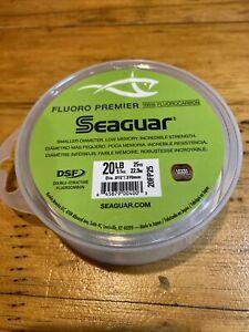 Seaguar Fluoro Premier Fluorocarbon Leader Clear Fishing Line 25 Yards 20LB