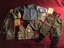 Retired 2002 American Girl Doll Fly Fishing Outfit and Accessories with boxes