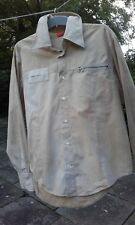 Boss Orange label light brown casual  cotton shirt with zip detail (XL)