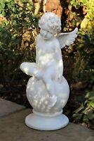 Large Magical Fairy Angel Cherub Garden Ornament Stone Figurine Statue 62cm tall