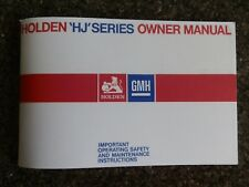 HOLDEN HJ OWNERS MANUAL.   100% GUARANTEE.