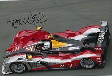 Tom Kristensen Hand Signed Audi Sport 12x8 Photo Le Mans 3.