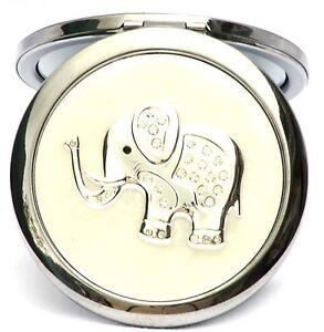 Elephant Compact Mirror Silver Plated Ladies CLEARANCE LIMITED QUANTITY 116