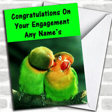 Parrots Engagement Customised Card
