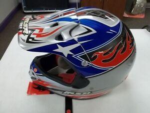 MSR RG2 Team Helmet blue/silver/red motocross helmet,XL #337714