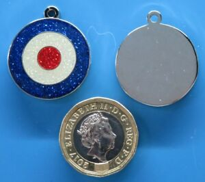 Expressions Engravers 25mm round RAF glitter pet/dog tag