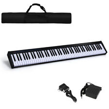 88 Key Digital Piano Portable MIDI Keyboard Weighted Key Bluetooth w/Pedal Black