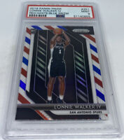 2018 19 Panini Prizm Lonnie Walker IV RED WHITE BLUE Refractor ROOKIE PSA 9 MINT