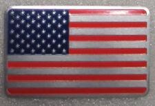 """USA Flag Aluminum Sticker 3D Patriotic 3 1/8"""" x 1 7/8"""" Emblem NEW"""