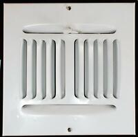 "6""x6"" Square 4 Way Air Register Adjustable Ceiling Wall Duct Size AC/Heat White"