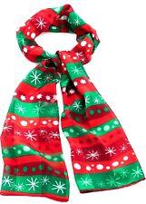 0fd2abf64218 Noël écharpe-Soyeux Col Cravate-rouge vert satin blanc à rayures Flocon De  Neige