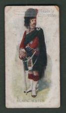 The Black Watch Regiment Scotland History Celtic Tartan 100+ Y/O Trade Ad Card
