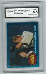 1999 Topps Star Wars Chrome Archives #19 Graded Card GMA 8.5