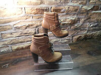 Ladies ALDO JALIN BROWN SUEDE/LEATHER ANKLE BOOTS UK 5.5 EU 38.5 RRP £110 - £28