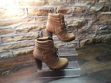 Ladies ALDO JALIN BROWN SUEDE/LEATHER ANKLE BOOTS UK 7 EU 41 RRP £110 ONLY £25