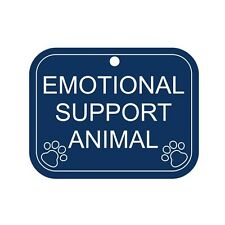 Engraved Emotional Support Animal Tag - use with vest, harness, collar. USA Made