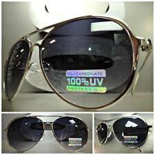 Mens Women VINTAGE RETRO Style SUN GLASSES SHADES Silver Chrome Frame Smoke Lens
