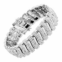 2 ct 'S' Link Tennis Bracelet in Rhodium-Plated Brass