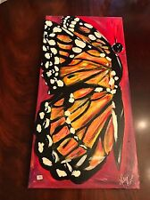 Beautiful Art Monarch Butterfly Painting Oil canvas 30 inches x 15 inches