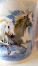 Leanin Tree Ceramic Gift Mug White Horses Clouds NIB