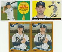 2020 Topps Archives Willy Adames Charlie Morton Austin Meadows Tampa Bay Rays