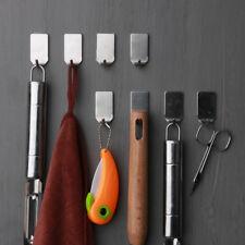 8pcs 304 Stainless Steel 3M Self Adhesive Coat Robe Hooks Holder Key Rack Garage