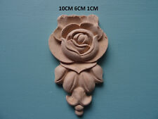 Decorative wooden rose drop applique furniture moulding onlay WK6