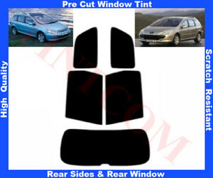 Peugeot 307 Estate 2002-2008 Pre-Cut Window Tint 5%-50% Rear Window & Rear Sides