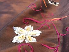 Embroidered Taffeta (per metre) 'Amaryllis E, dress fabric, womenswear