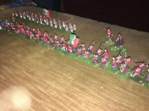 75 Painted 1/72 Italian War of Independence Garibaldi Troops Infanty Artillery